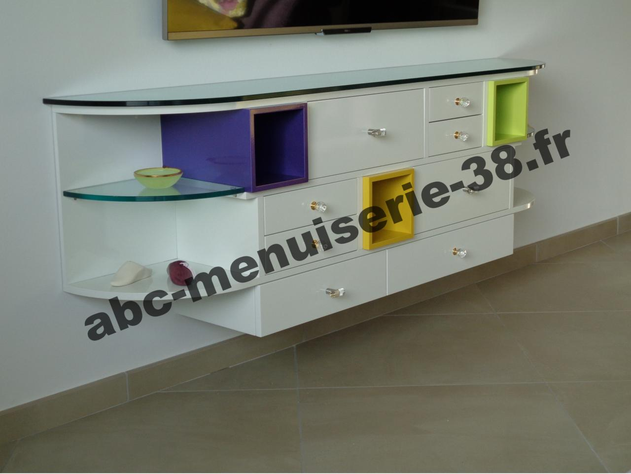 meuble tv avec bord arrondi. Black Bedroom Furniture Sets. Home Design Ideas