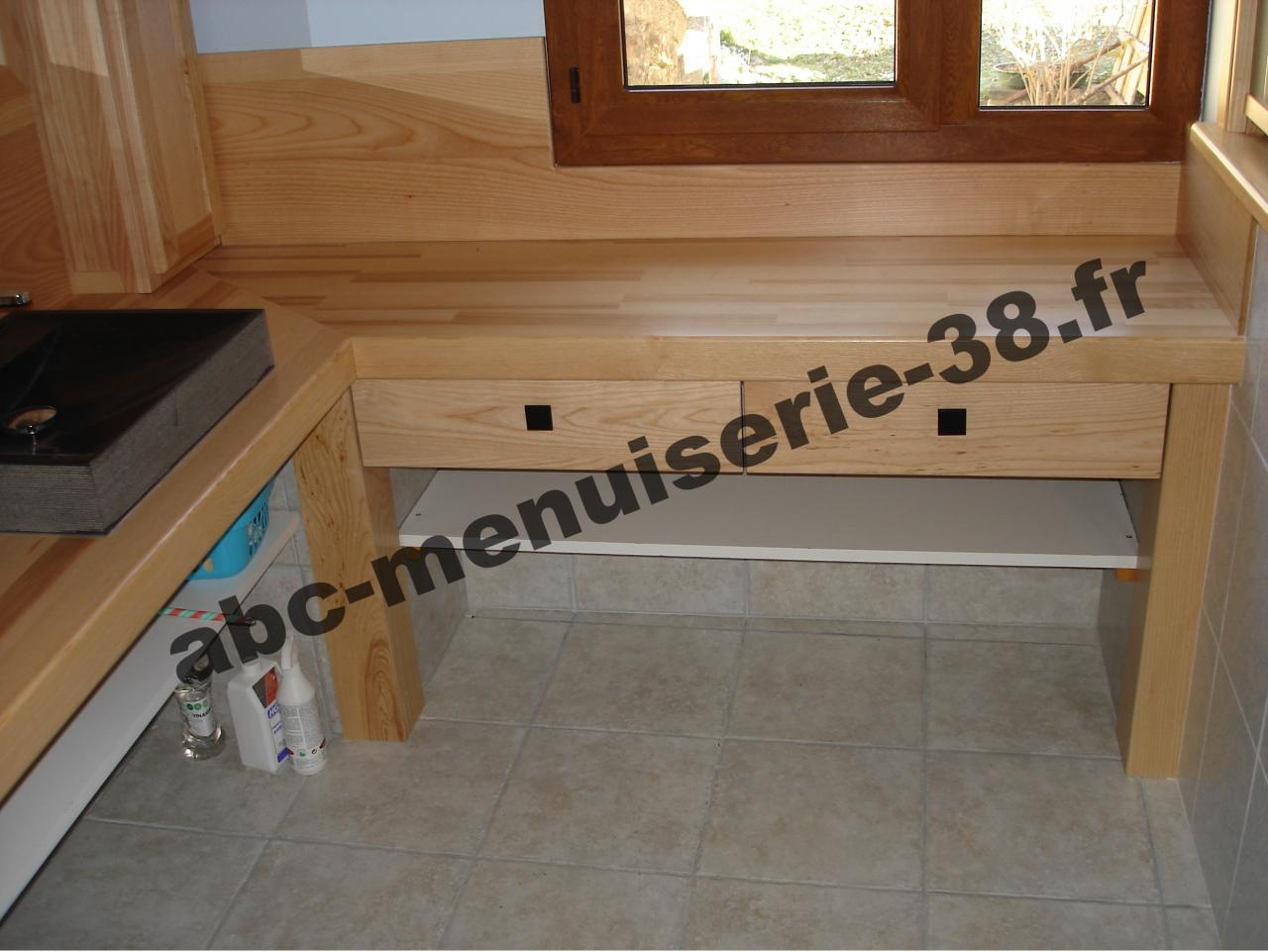 Salle de bain for Meuble salle de bain menuisier