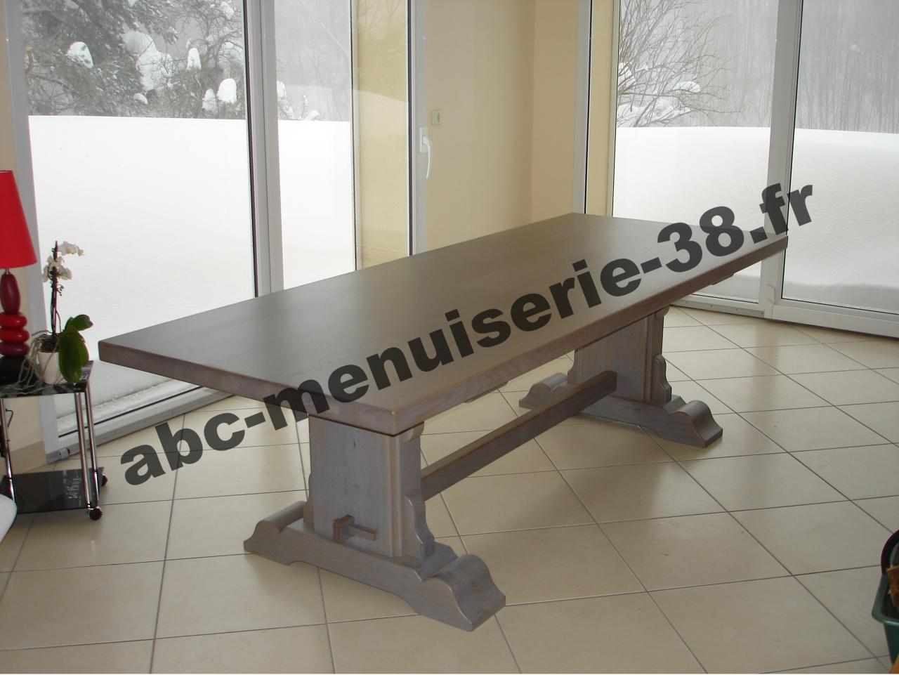 DSC01096 Table en chêne teinté gris clair