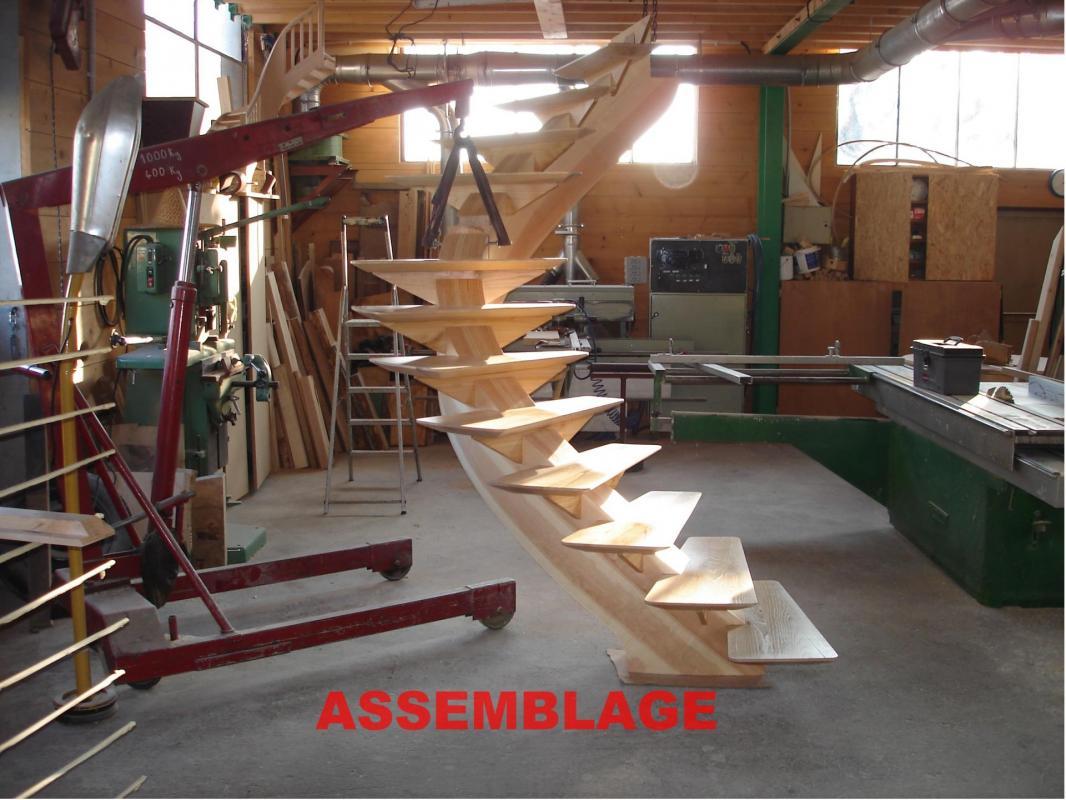 Dsc00698 Escalier phase d'assemblage
